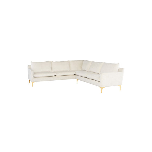 Nuevo Anders 2 Arm Sectional  - Gold Legs