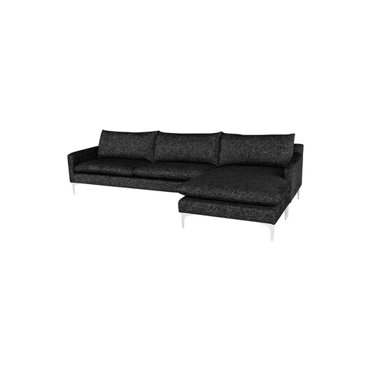 Nuevo Anders Sectional Sofa - Silver Legs
