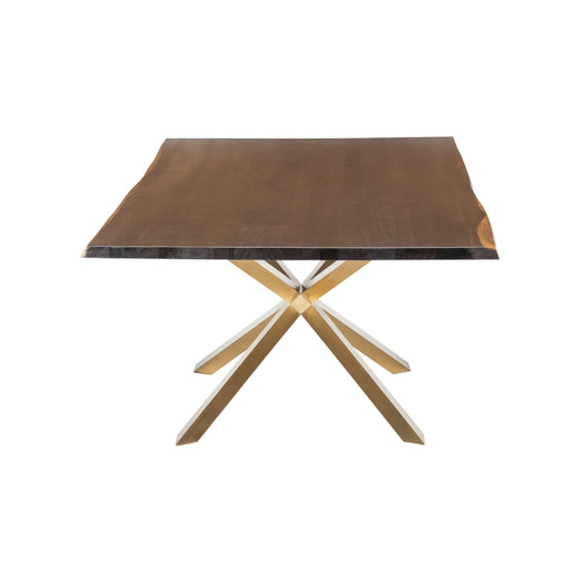 Nuevo Couture Dining Table - Gold and Oak