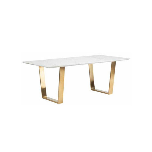 Nuevo Catrine Dining Table - Gold