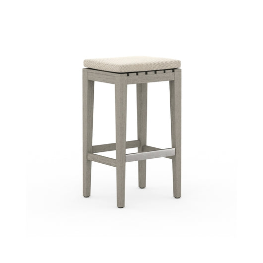 Solano Dale Outdoor Bar Stool - Weathered Grey