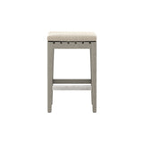 Solano Dale Outdoor Counter Stool - Weathered Grey