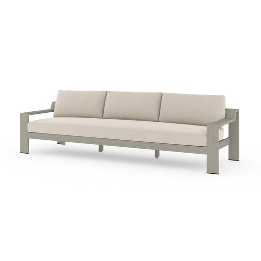 "Solano Monterrey Outdoor Sofa 106"" - Weathered Grey"