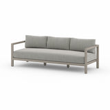 "Solano Sonoma  Outdoor Sofa 88"" - Weathered Grey"