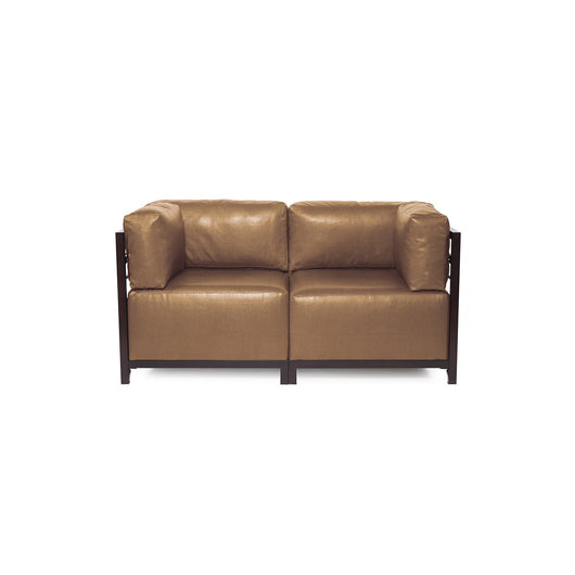 Howard Elliott Axis Loveseat - Avanti & Mahogany