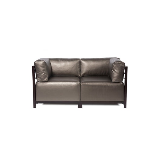 Howard Elliott Axis Loveseat - Shimmer & Mahogany