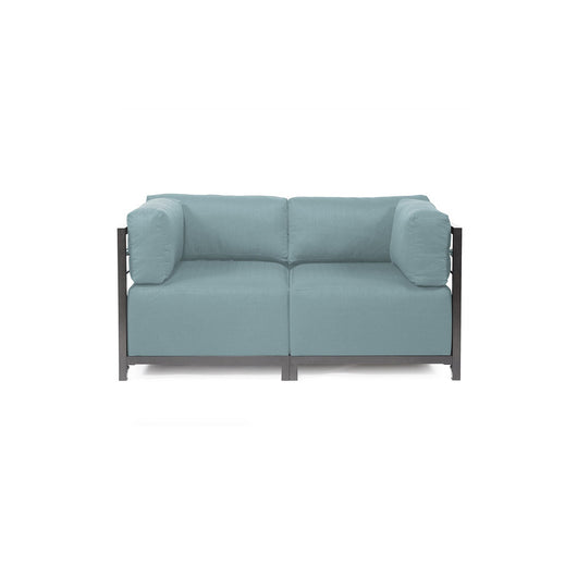 Howard Elliott Axis Loveseat - Sterling & Titanium