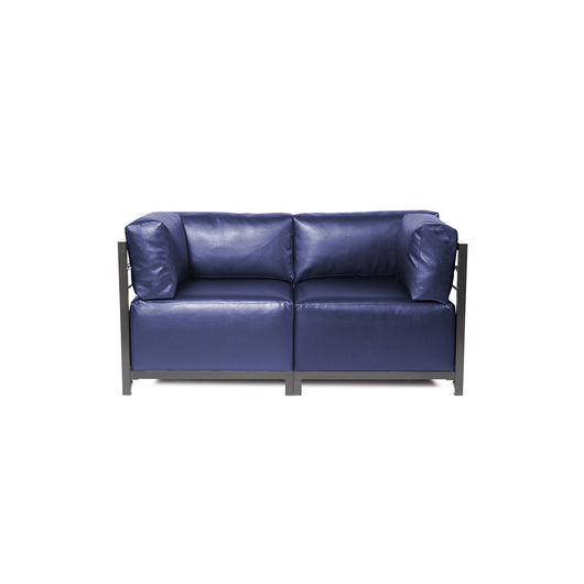 Howard Elliott Axis Loveseat - Shimmer & Titanium