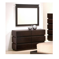 J&M Furniture Knotch Dresser and Mirror