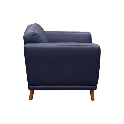 Magnetic Leatherette Accent Chair