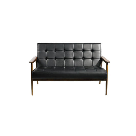 Mod Made Tufted Leatherette Loveseat