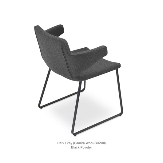 vSohoconcept Nevada Arm Sled  Dining Chair