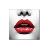 J&M Premium Acrylic Wall Art - Red Lips