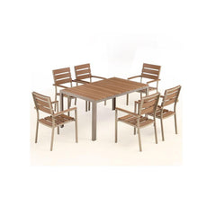 Bow 6-Seat Outdoor Dining Set