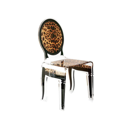 Acrila Medallion Sixteen Dining Chair - Black Outline