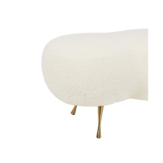 TOV Welsh Faux Sheepskin Bench