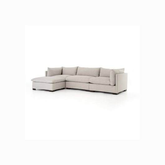 Kensington Westood Sectional with Ottoman