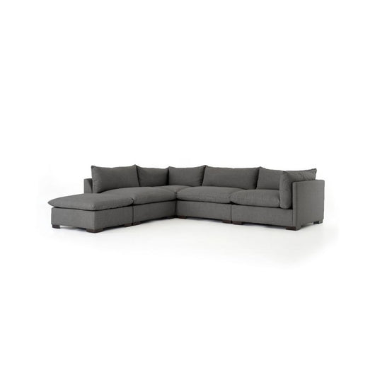 Kensington Westood  4 pc Sectional with Ottoman