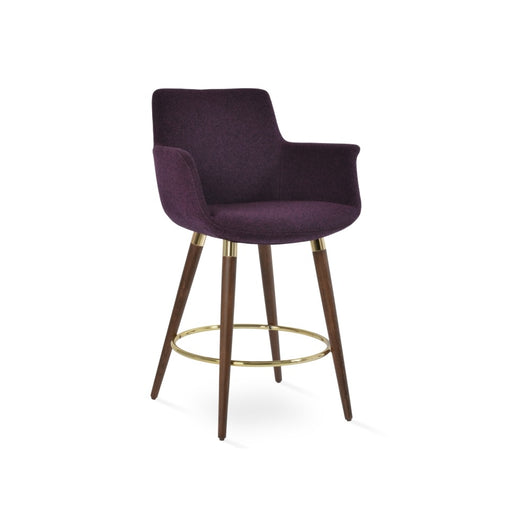Sohoconcept  Bottega Wood Counter Stool