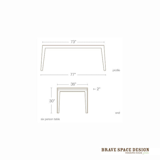 Brave Space Hollow Dining Table
