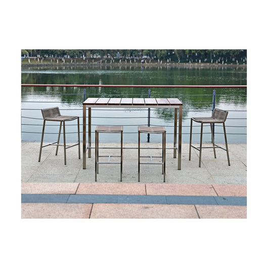 Stone Outdoor Bar Table