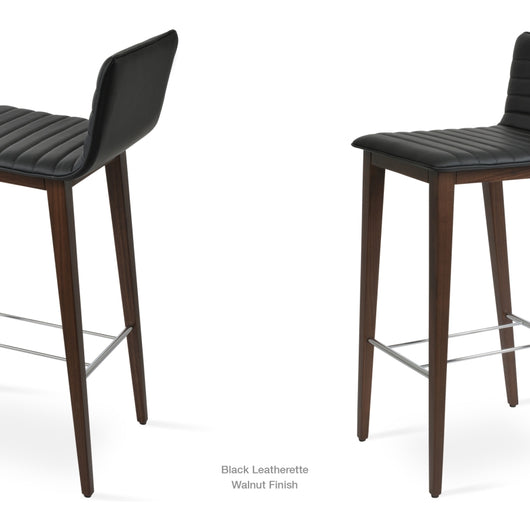 Sohoconcept Corona Wood Bar Stool - Upholstered