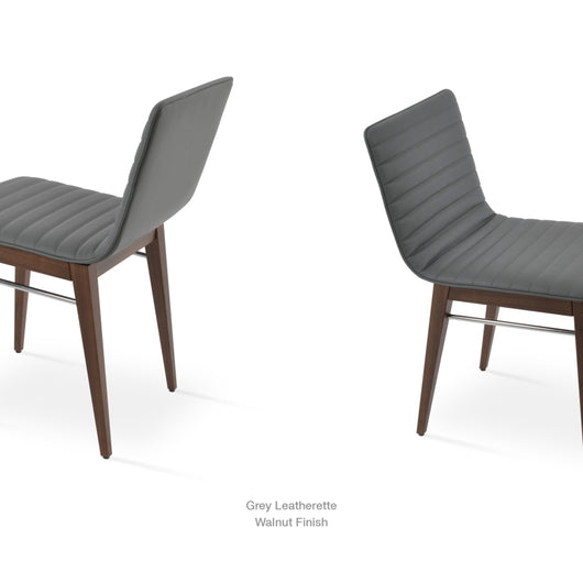 Sohoconcept Corona Wood Dining Chair - Upholstered