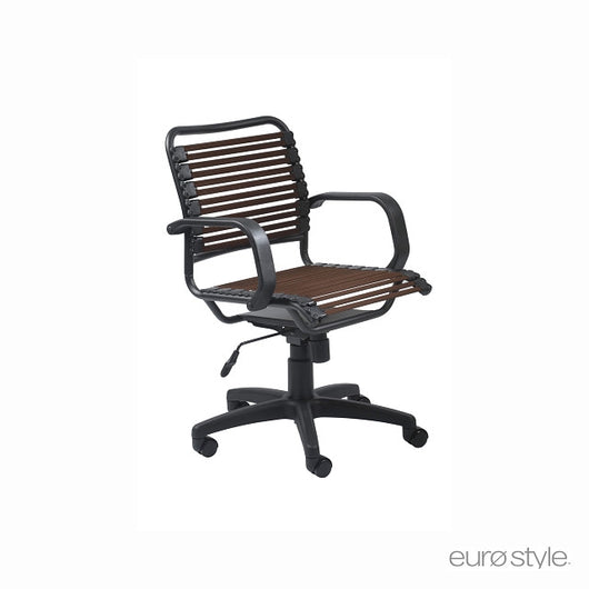 Euro Style Bungie Flat Mid Back Office Chair