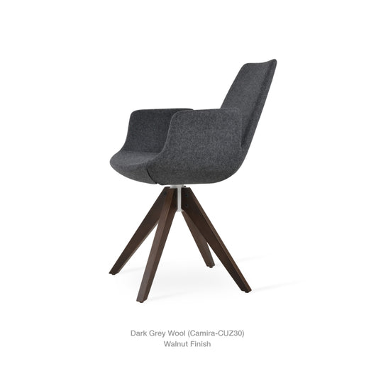 Sohoconcept Eiffel Arm Pyramid Swivel Chair
