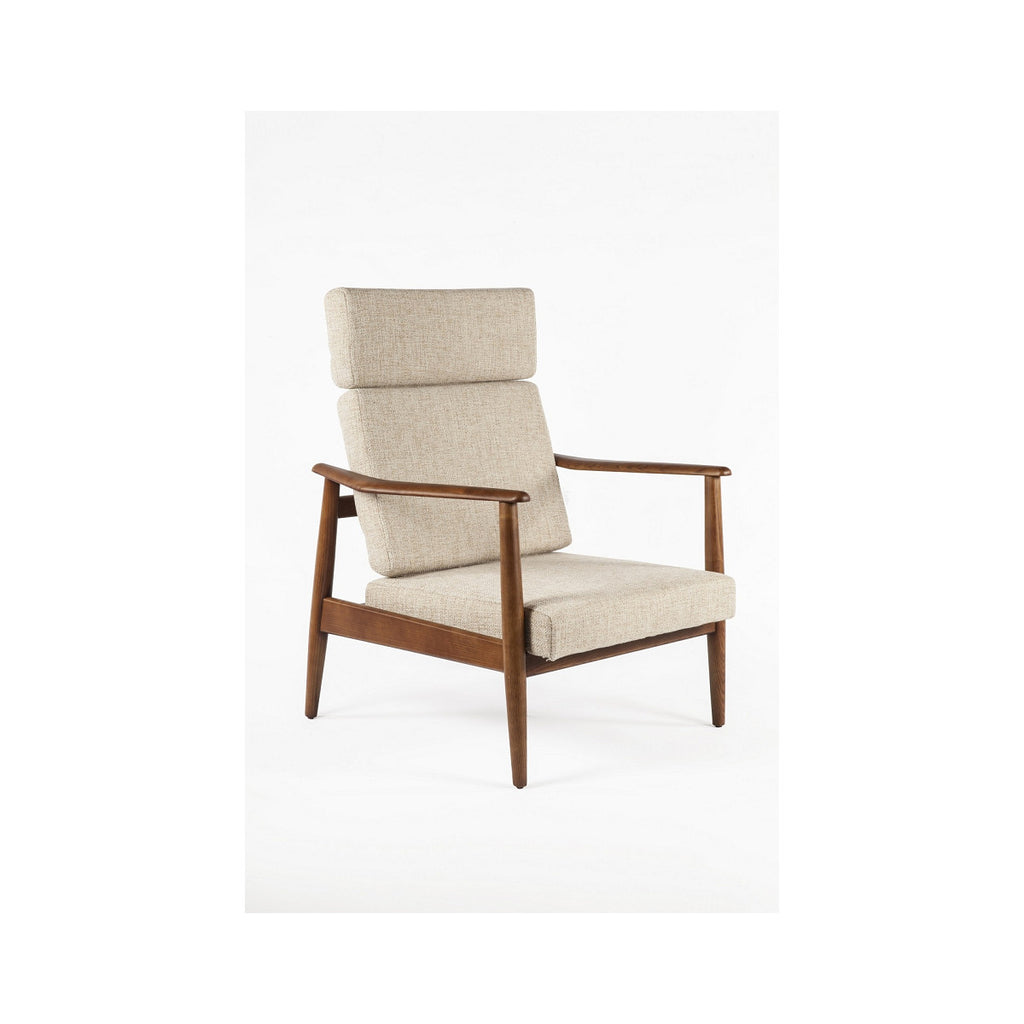 Counter Chairs With Arms Control Brand Aalborg High Back Chair - Fabric – 2bmod