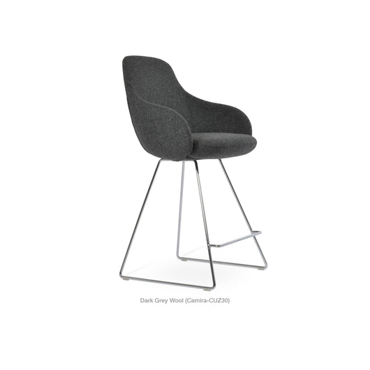 Sohoconcept Gazel Arm Wire Counter Stool