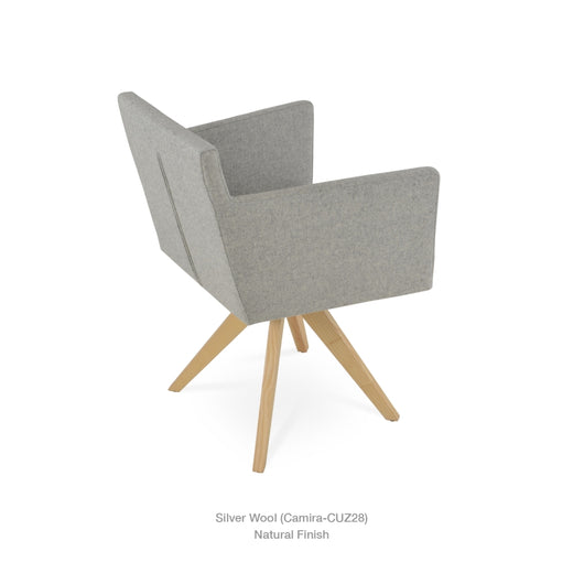 Sohoconcept Harput Pyramid Swivel Dining Chair