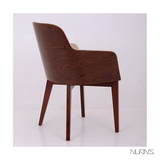 Nuans Hudson Dining Chair - Wood Legs