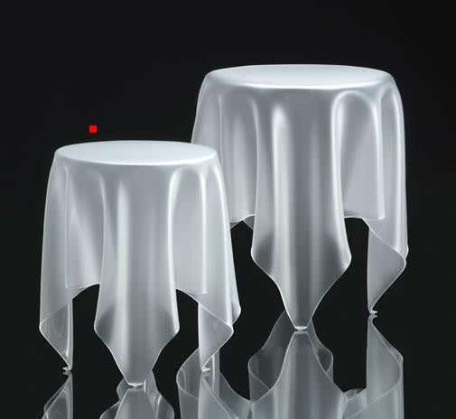Essey Illusion Side Table - Ice white