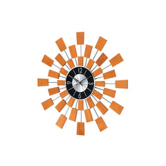Stilnovo Wooden Pixels Starburst Wall Clock