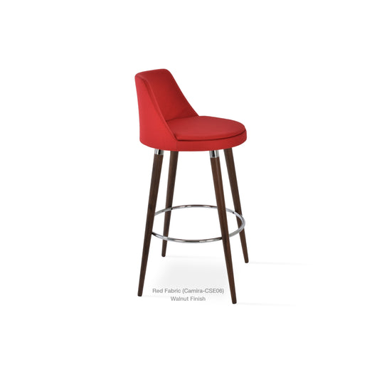 Sohoconcept Martini Wood DR Counter  Stool