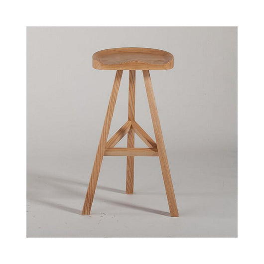 Mod Made Hemi Wood Bar Stool