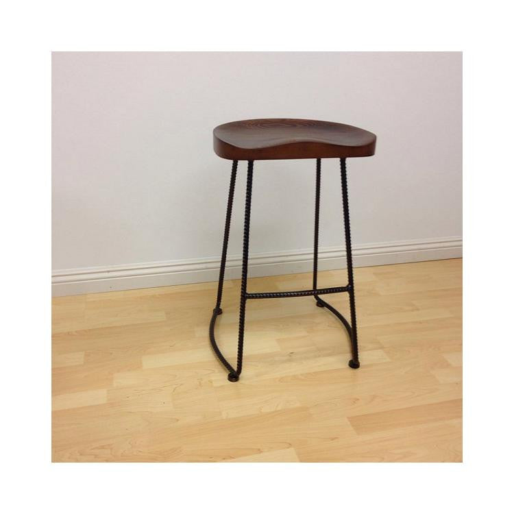 Surprising Mod Made Potter Wood Counter Stool Metal Leg Set Of 2 Gmtry Best Dining Table And Chair Ideas Images Gmtryco