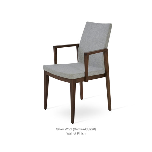 Sohoconcept Pasha Wood Arm Dining Chair