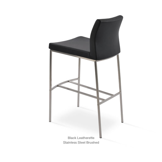 Sohoconcept Pasha Metal Bar Stool - Low Back