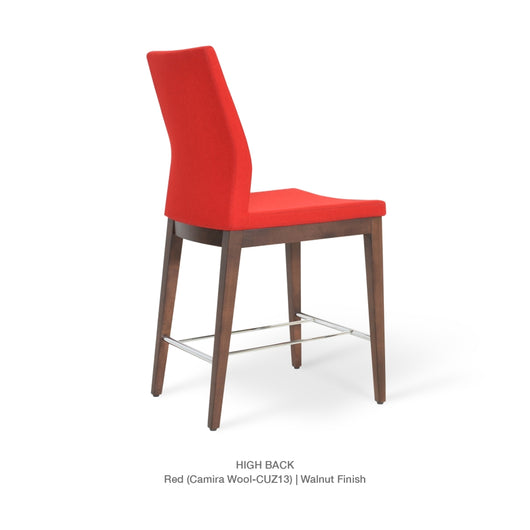 Sohoconcept Pasha Wood Bar Stool - Low Back