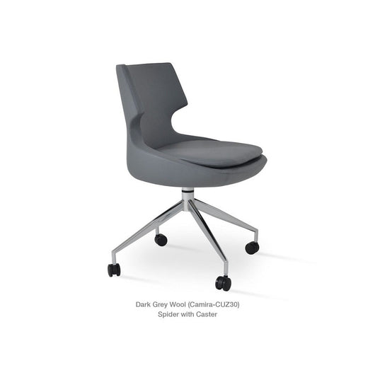 Sohoconcept Patara Spider Swivel Chair - On Casters
