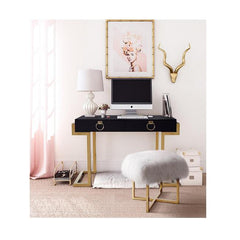 TOV Nomo Sheepskin Bench - Gold Base