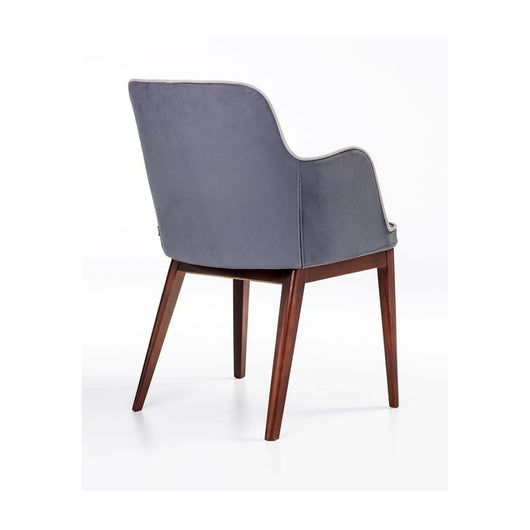 B&T Rift Dining Armchair -  Wood Base