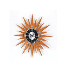 Stilnovo Wooden Sunburst Wall Clock