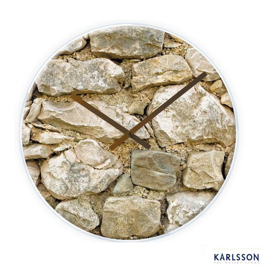 Karlsson Rock Glass Clock