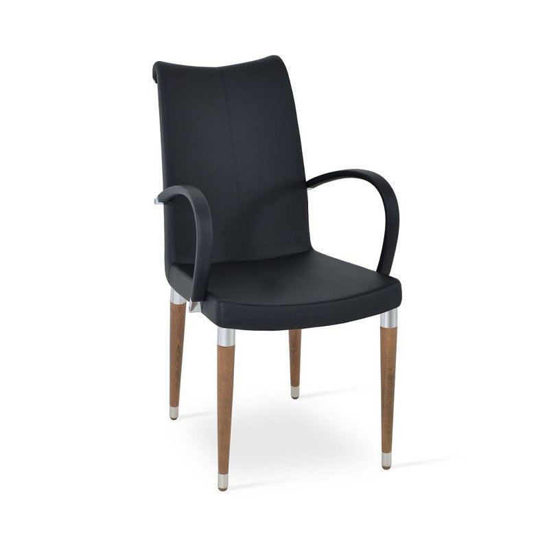 Sohoconcept tulip wood dining chair with arms 2bmod for Wood dining chairs with arms