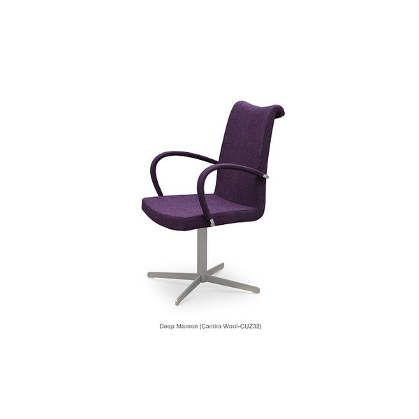 Sohoconcept Tulip 4 Star Dining Chair - With Arms