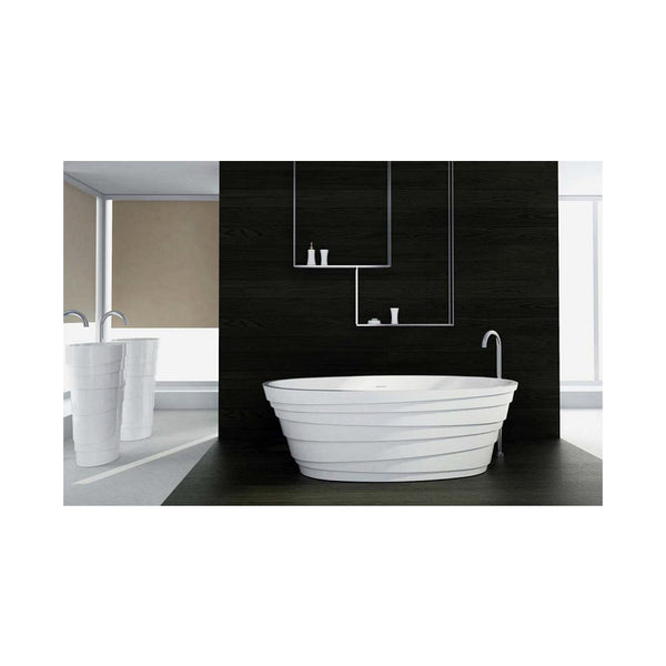Control Brand Wave True Solid Surface Soaking Tub