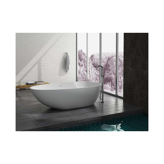 Control Brand Pebble True Solid Surface Soaking Tub